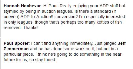 Adp To Auction Values Process Fangraphs Fantasy Baseball
